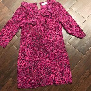 Juicy couture silk dress pink cheetah 6